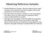 obtaining reference samples