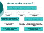 gender equality growth