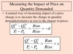 measuring the impact of price on quantity demanded