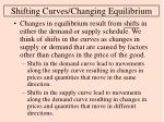 shifting curves changing equilibrium