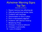 alzheimer warning signs top ten alzheimer association