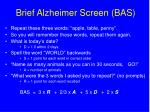 brief alzheimer screen bas