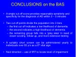 conclusions on the bas