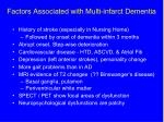 factors associated with multi infarct dementia