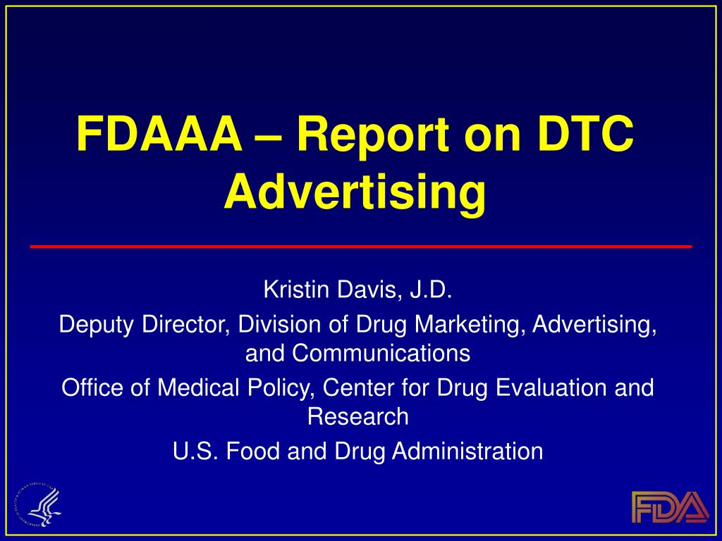fdaaa report on dtc advertising l.