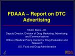 fdaaa report on dtc advertising