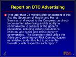 report on dtc advertising