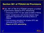 section 901 of fdaaa ad provisions