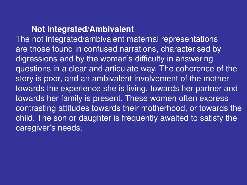 Not integrated/Ambivalent