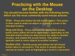 practicing with the mouse on the desktop2