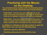 practicing with the mouse on the desktop3