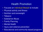 health promotion1