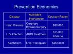 prevention economics