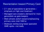 reorientation toward primary care