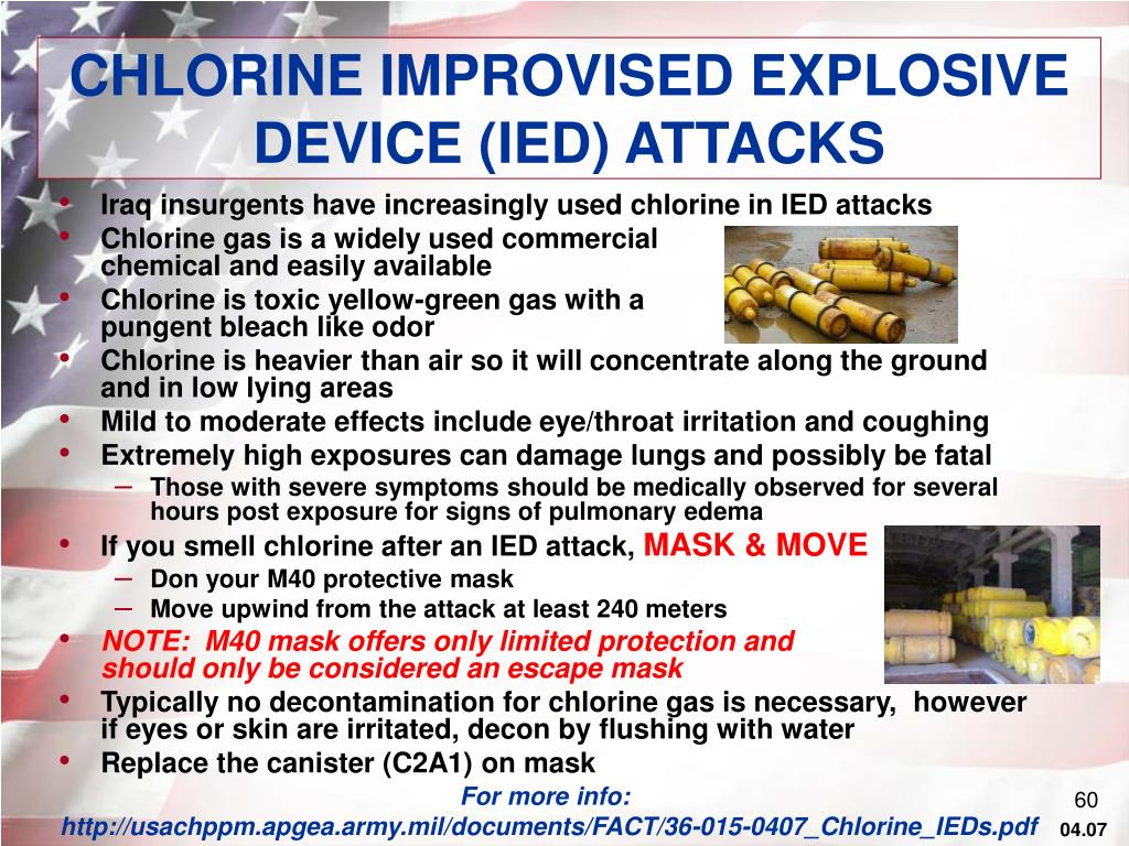CHLORINE IMPROVISED EXPLOSIVE DEVICE (IED) ATTACKS