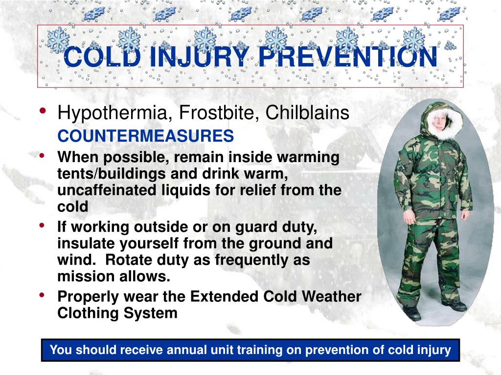 COLD INJURY PREVENTION