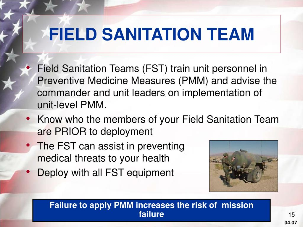 FIELD SANITATION TEAM