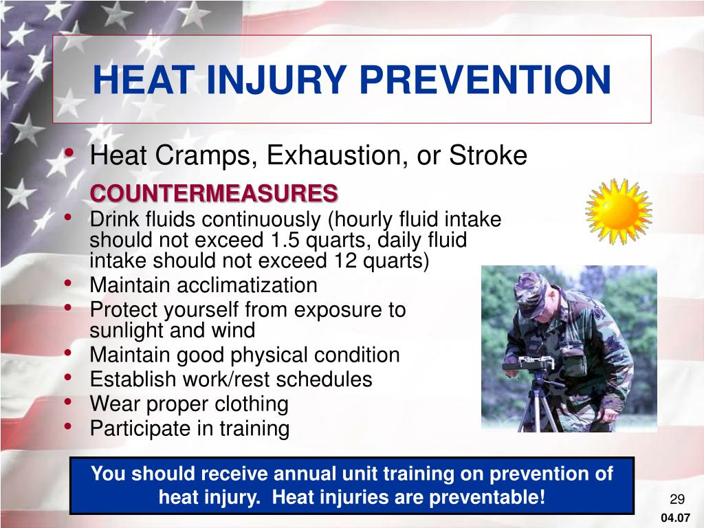 HEAT INJURY PREVENTION