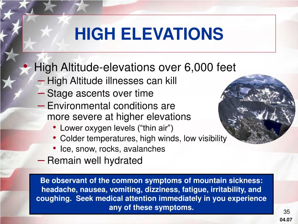 HIGH ELEVATIONS