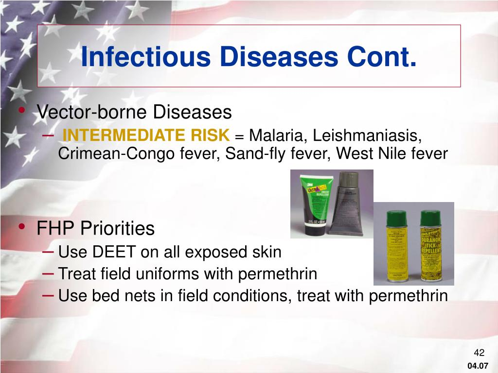 Infectious Diseases Cont.