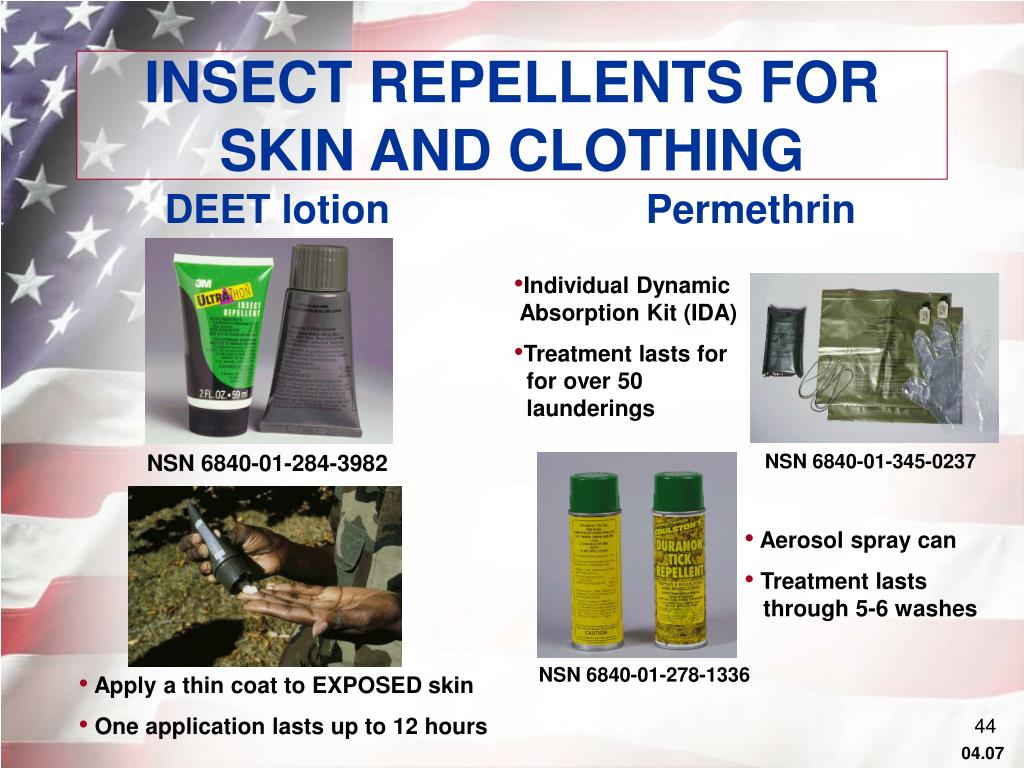 INSECT REPELLENTS FOR SKIN AND CLOTHING