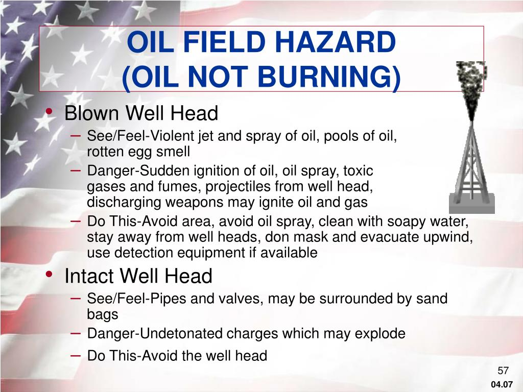 OIL FIELD HAZARD