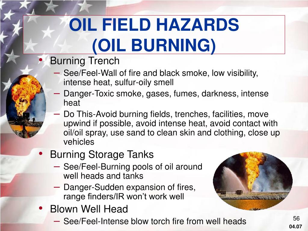 OIL FIELD HAZARDS