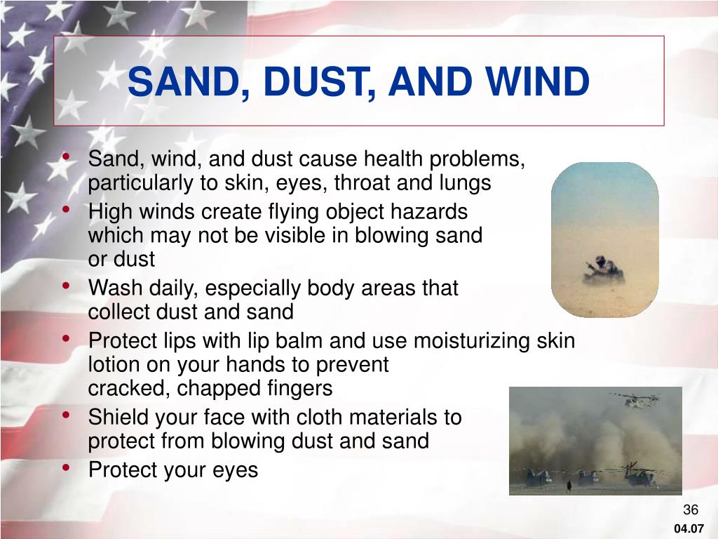 SAND, DUST, AND WIND