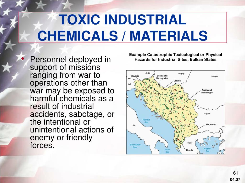 TOXIC INDUSTRIAL CHEMICALS / MATERIALS
