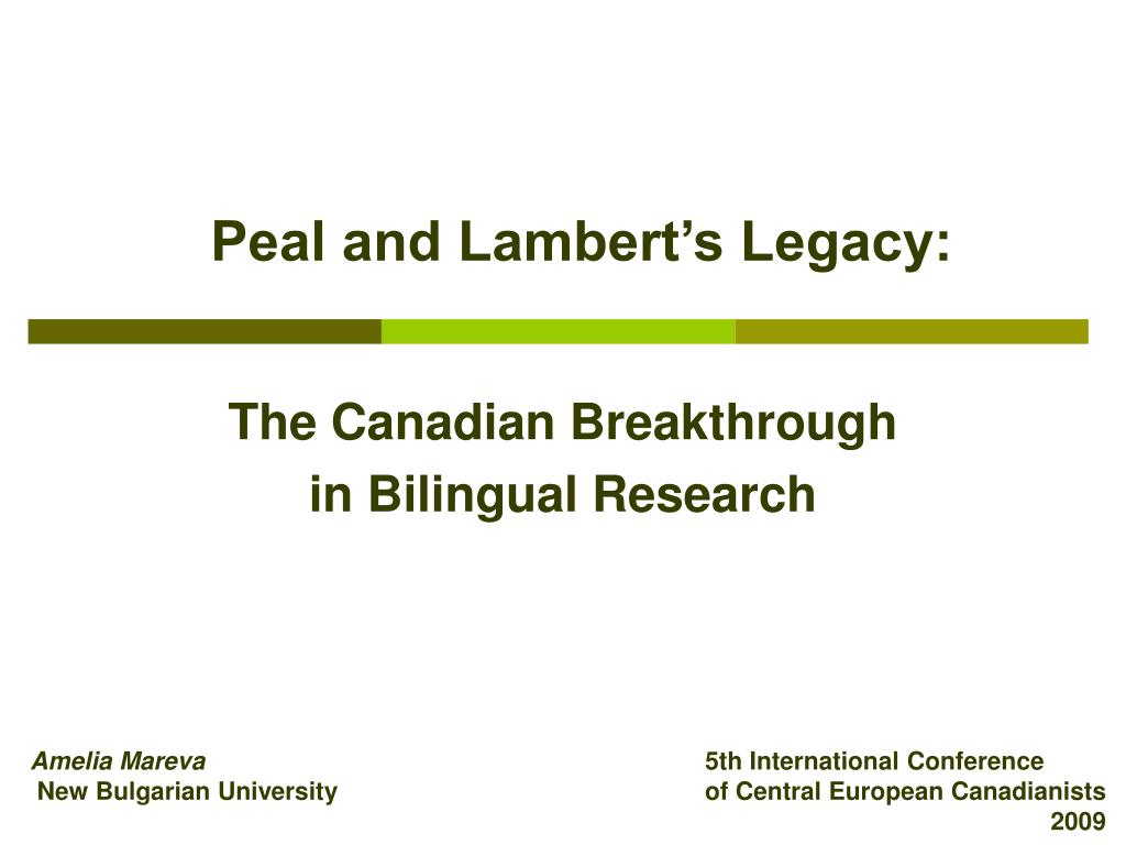 peal and lambert s legacy l.