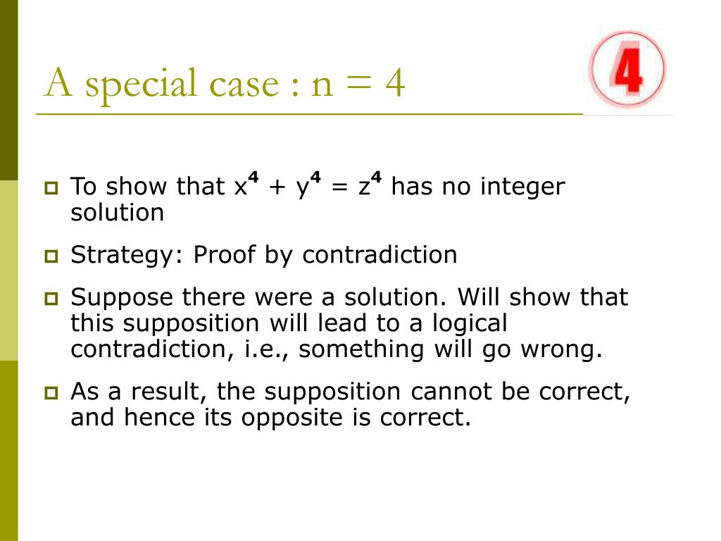 A special case : n = 4