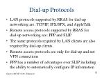 dial up protocols