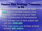 passive mine drainage treatment in pa
