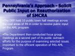 pennsylvania s approach solicit public input on reauthorization of smcra