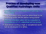 process of developing new qualified hydrologic units