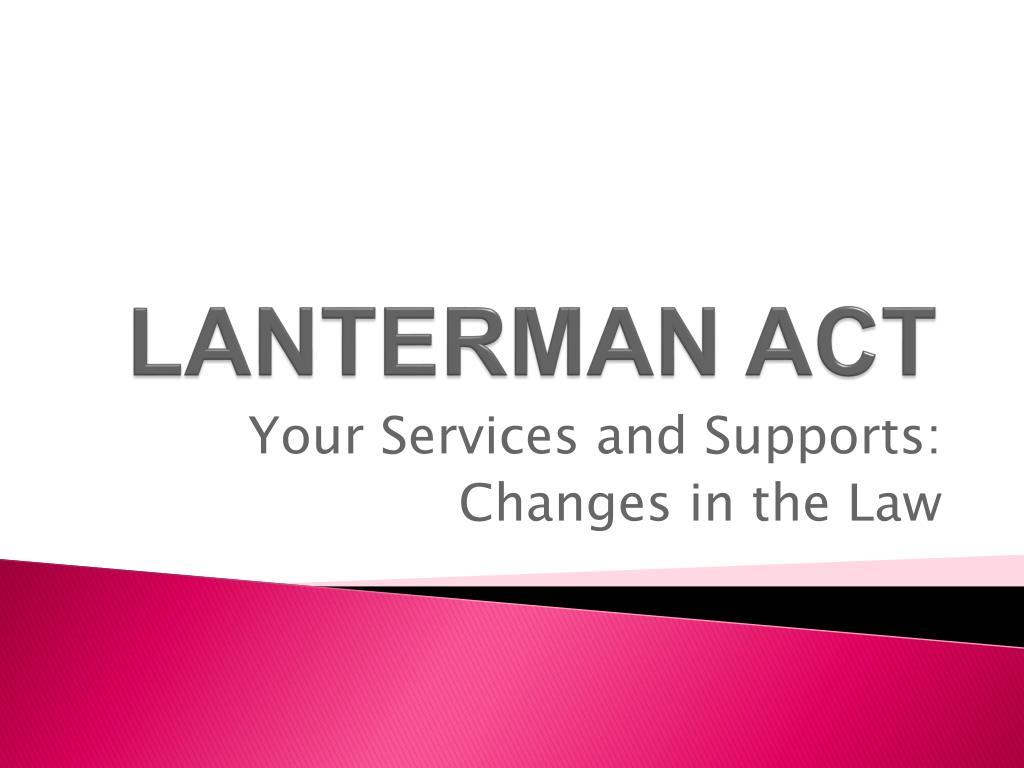 lanterman act l.