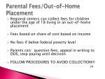 parental fees out of home placement