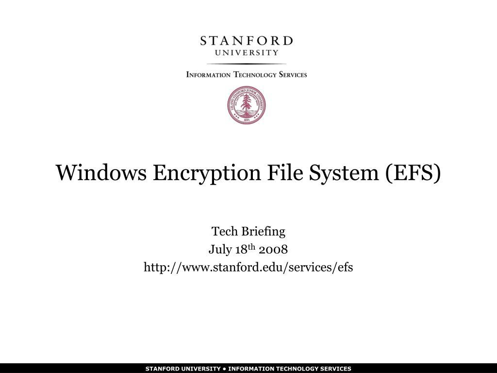 windows encryption file system efs l.