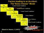 factors leading to an accident the swiss cheese model