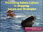 promoting safety culture in shipping issues and strategies2