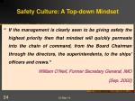 safety culture a top down mindset