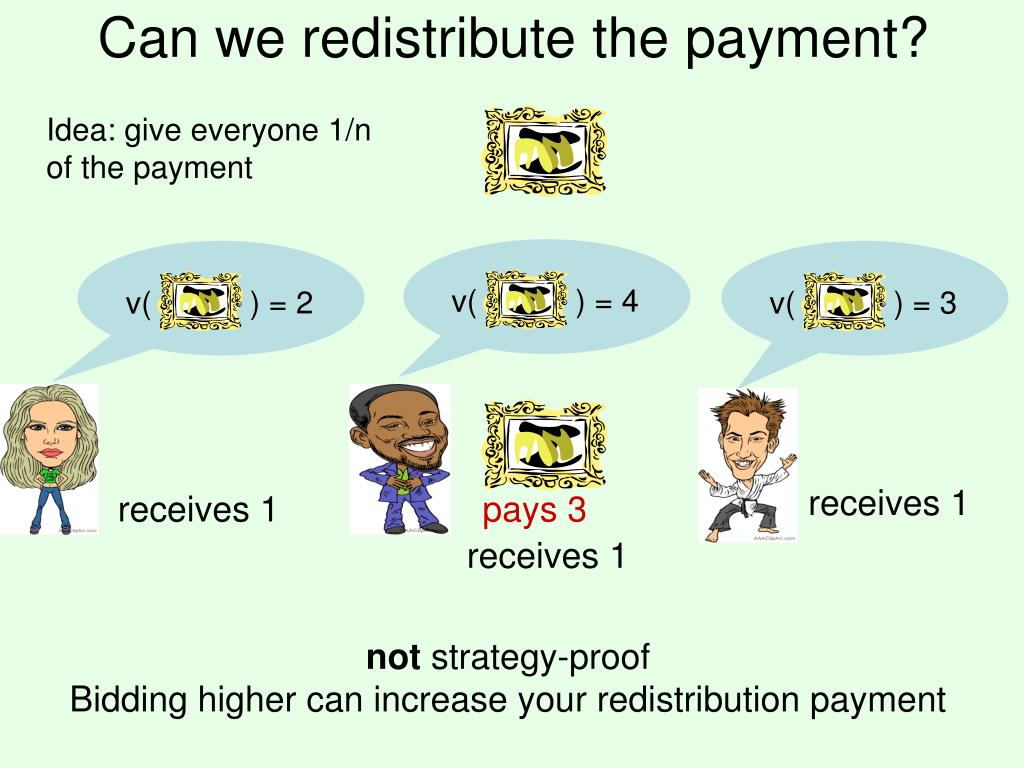 Can we redistribute the payment?
