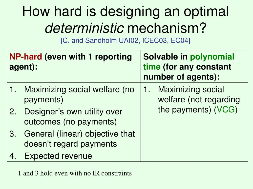 How hard is designing an optimal