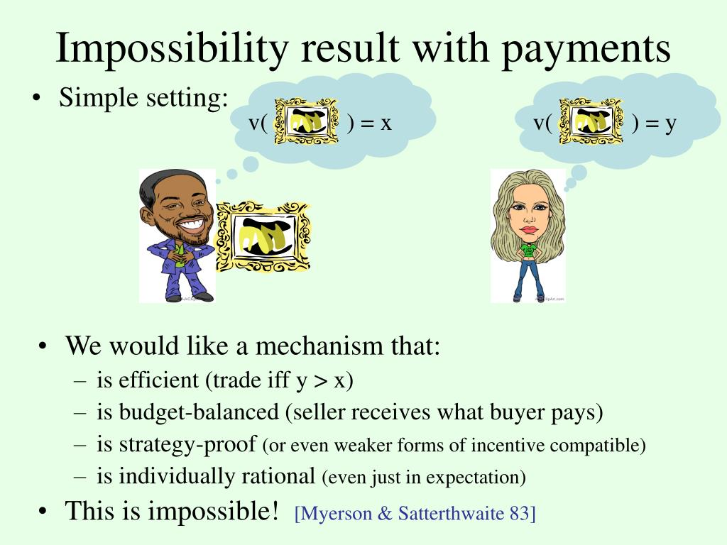 Impossibility result with payments