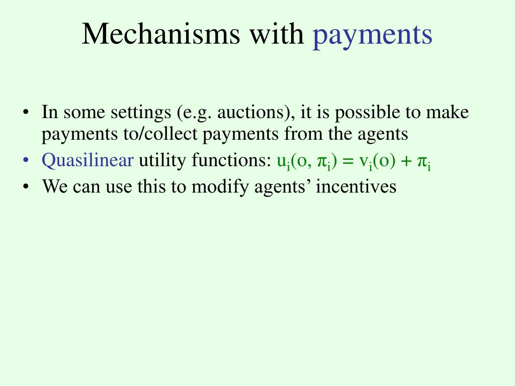 Mechanisms with