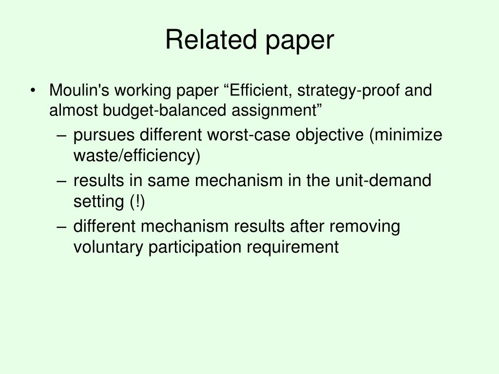 Related paper