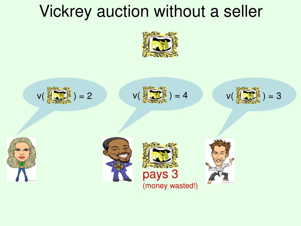Vickrey auction without a seller