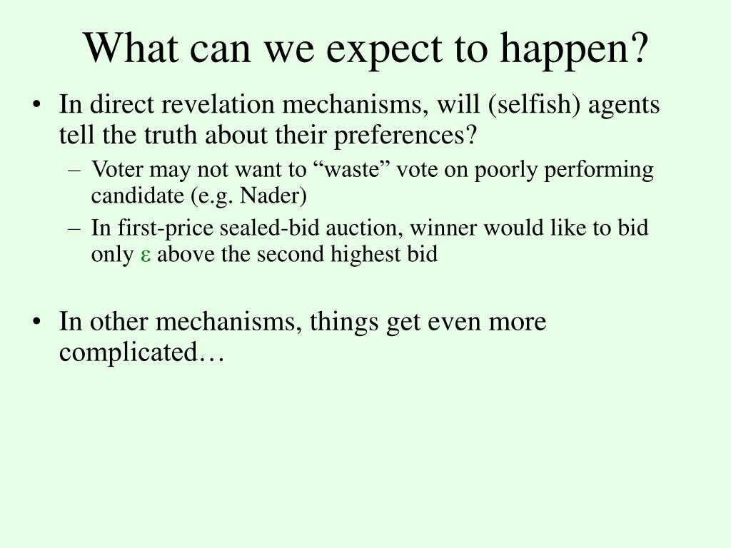 What can we expect to happen?