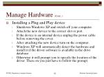 manage hardware cont