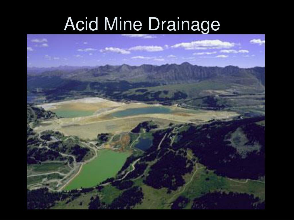 acid mine drainage l.